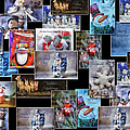 Collage Xmas Cards Horz Photo Art by Thomas Woolworth