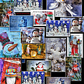 Collage Xmas Cards Vertical Photo Art by Thomas Woolworth