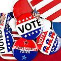 Collection Of Vote Badges by Joe Belanger