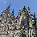 Cologne Cathedral South Side Rooflines by Teresa Mucha