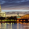 Cologne Cathedral With Rhine Riverside by Heiko Koehrer-Wagner