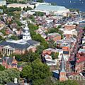 Colonial Annapolis Historic District And Maryland State House by Bill Cobb