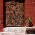 Colonial Door And Geranium by James Brunker