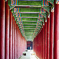 Colonnade In A Royal Palace by George Oze