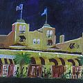 Colony Hotel At Night. Delray Beach by Donna Walsh