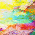 Color Burst Abstract Art  by Ann Powell