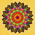 Color Circles Kaleidoscope by Liz Mackney