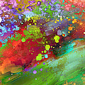 Color Explosion Abstract Art by Ann Powell