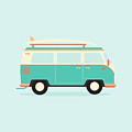 Color Full Surfer Van. Transportation by Guaxinim