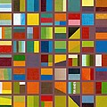 Color Study Collage 65 by Michelle Calkins