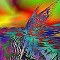 Color Tempest Angel On Rocks by Daniel  Lamb
