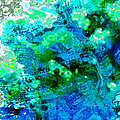 Color Wash Abstract In Blue by Regina Geoghan