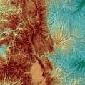 Colorado Map Art by Paul Hein