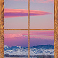 Colorado Moon Sunrise Barn Wood Picture Window View by James BO Insogna