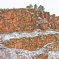 Colorado Red Sandstone Country Dusted With Snow by James BO Insogna