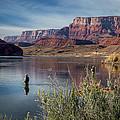 Colorado River Fisherman by Michael J Bauer