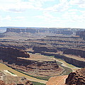 Colorado River From Dead Horse Point  by Christiane Schulze Art And Photography