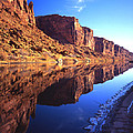 Colorado River Reflection by Ray Mathis