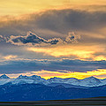 Colorado Rocky Mountain Front Range Sunset Gold by James BO Insogna