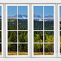 Colorado Rocky Mountains White Window Frame View by James BO Insogna