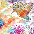 Colored Bird by Justyna JBJart