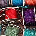Colored Bobbins - Seamstress - Quilter by Barbara Griffin