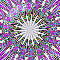 Colored Foil Lily Kaleidoscope Under Glass by Rose Santuci-Sofranko