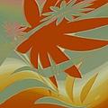 Colored Jungle Orange Splash by Ben and Raisa Gertsberg