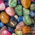 Colored Polished Rocks by Steven Ralser