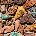 Colored Stone Rock Church Wall - Cedar City - Utah by Gary Whitton