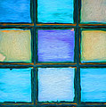 Colored Window Panes by Kathleen K Parker