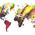 Colored World Map by Justyna JBJart
