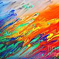 Colorful Abstract Acrylic Painting by Michal Bednarek