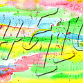 Colorful Abstract Watercolor Painting Hello Brushstrokes Letteri by Beverly Claire Kaiya