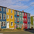 Colorful Apartment Buildings In Saint John's-nl by Ruth Hager