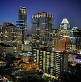 Colorful Austin Skyline At Night by Kristina Deane