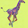 Colorful Baby Giraffe by Jane Schnetlage