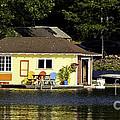 Colorful Boathouse by Les Palenik