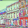 Colorful Buildings by Les Palenik