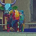 Colorful Bull by Karen Kammer