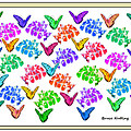 Colorful Butterflies by Bruce Nutting