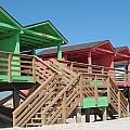 Colorful Cabanas by Caryl J Bohn