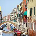 Colorful Canal by Valentino Visentini