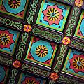 Colorful Church Ceiling by Rhonda Burger