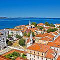 Colorful City Of Zadar Rooftops  Towers by Brch Photography