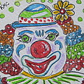 Colorful Clown by Kathy Marrs Chandler