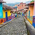 Colorful Cobblestone Street by Jess Kraft