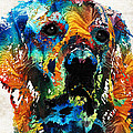 Colorful Dog Art - Heart And Soul - By Sharon Cummings by Sharon Cummings