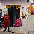 Colorful Family Gathering Ancestral Home Udaipur Rajasthan India by Sue Jacobi