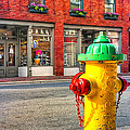 Colorful Fire Hydrant On The Streets Of Asheville by Mark E Tisdale